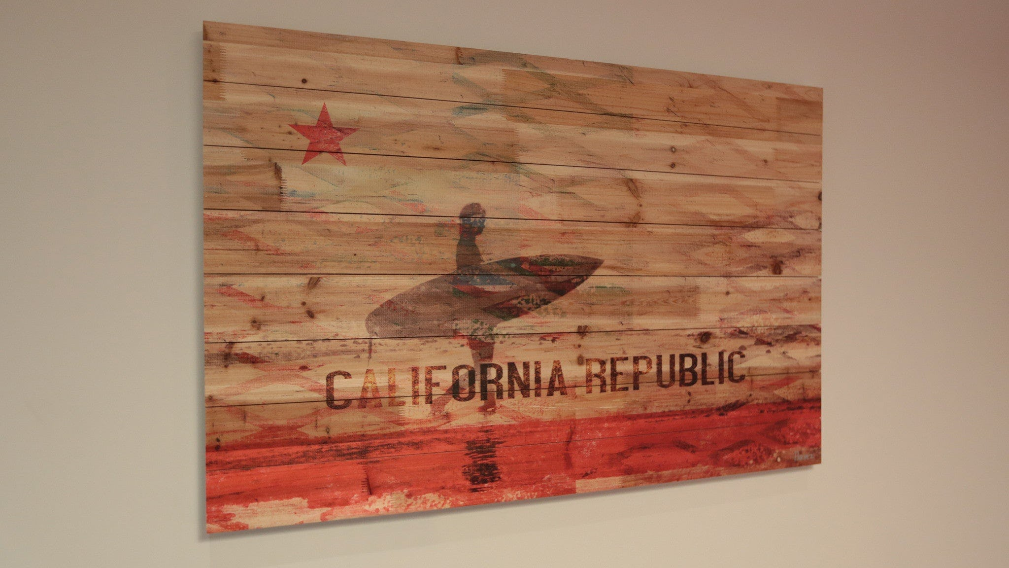 California Republic 30 Quot X 50 Quot Wood Art The Chivery
